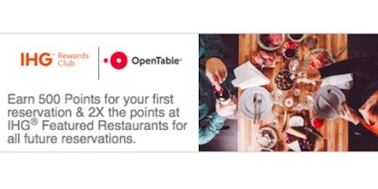 Open Table – My First Experience